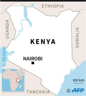Map of Kenya locating the towns of Lamu and Kiangwe.  By AFP (AFP)