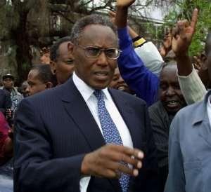 Kenya's George Saitoti in 2002.  By Simon Maina (AFP/File)
