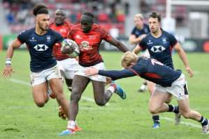 Kenya failed to claim a place at next year's World Cup after defeats in the qualifying repechage tournament in Marseille, including 42-17 to Hong Kong.  By GERARD JULIEN (AFP/File)