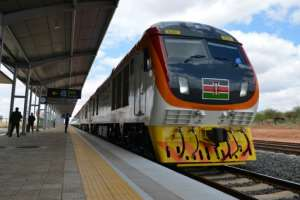 Kenya in 2017 inaugurated a Chinese-built railway, the country's biggest infrastructure project since independence -- China has made dramatic inroads in Africa with direct investment, aid and infrastructure projects.  By TONY KARUMBA (AFP/File)