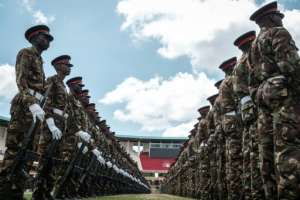 Kenyan army soldiers have rehearsed the inauguration ceremony ahead of Uhuru Kenyatta being sworn in for a second term
