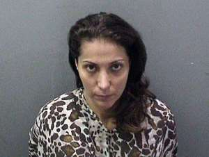 Saudi princess Meshael Alayban, arrested July 10, 2013 has been charged with human trafficking..  By  (District Attorney Orange County/AFP)