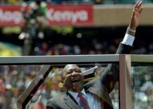 Kenya's President Uhuru Kenyatta won a 2017 election that led to chaos.  By SIMON MAINA (AFP/File)