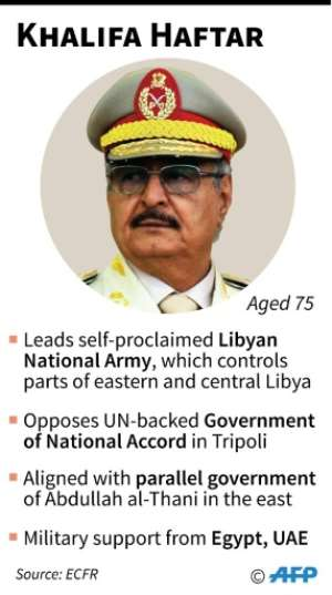 Profile of Libyan strongman Khalifa Haftar. By Gillian HANDYSIDE (AFP)