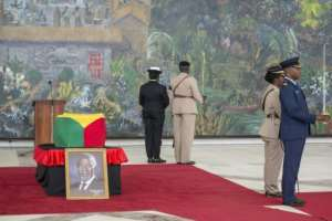 Kofi Annan's body was flown back home to Ghana on Monday and he will be buried after a state funeral on Thursday.  By CRISTINA ALDEHUELA (AFP)