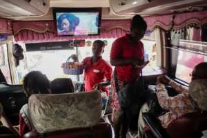 Kumawood films are regularly shown on long-distance bus journeys across the west African country
