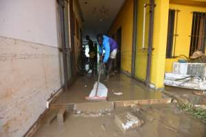 Landslides and floods are common during Abidjan's rainy season.  By SIA KAMBOU (AFP)