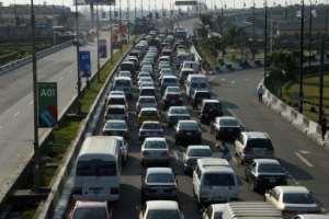 Lagos residents are spending hours in traffic jams.  By PIUS UTOMI EKPEI (AFP)