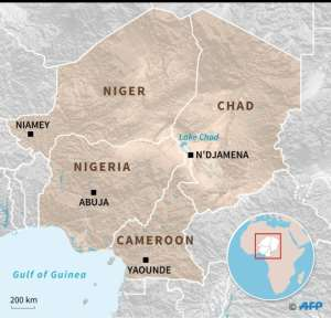 The Lake Chad basin.  By Jean-Michel CORNU (AFP)
