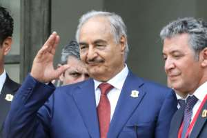 Last year, Khalifa Haftar attended a major peace conference of the various Libyan factions in Paris, which also helped legitimise him on the international stage.  By ludovic MARIN (AFP/File)