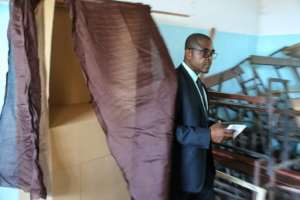 Lawyer Mahamoudou Ahamada, candidate of opposition party Juwa, vowed never to recognise the election results after incidents at polling stations.  By Youssouf IBRAHIM (AFP)