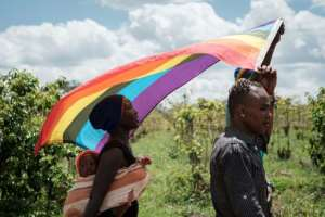 LGBT refugees from South Sudan, Uganda and DR Congo were among those who demanded a change in the law in Kenya.  By Yasuyoshi CHIBA (AFP/File)