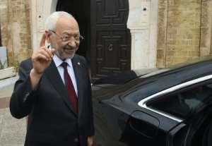 Leader of Tunisia's Islamist-inspired party Ennahdha, Rached Ghannouchi.  By FETHI BELAID (AFP)