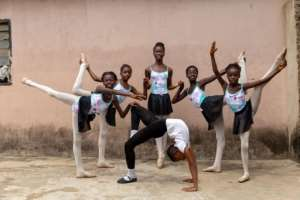 Learning ballet led to at least one student wanting to become a dance teacher herself.  By Benson Ibeabuchi (AFP)
