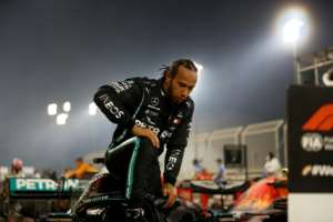 Lewis Hamilton tested positive for coronavirus just two days after winning the Bahrain Grand Prix.  By HAMAD I MOHAMMED (POOL/AFP/File)