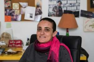 Lina Attalah, editor in chief of Cairo-based online newspaper Mada Masr, says few independent media organisations are left in Egypt.  By Khaled DESOUKI (AFP)