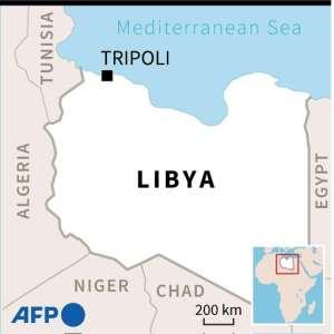 Maps of Libya locating air strike on Murzuk.  By  (AFP)