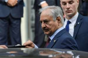 Libyan eastern commander Khalifa Haftar launched an offensive on Tripoli in April.  By ARIS MESSINIS (AFP)