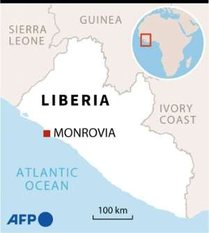 Map of Liberia locating Paynesville, where a Koranic school fire killed more than 20 children and two teachers..  By Valentina BRESCHI (AFP)