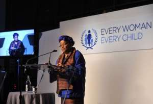 President of Liberia, Ellen Johnson Sirleaf at a United Nations dinner, September 25, 2012, New York.  By Larry Busacca (Getty Images/ AFP/File)