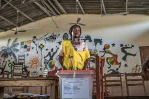 Little more than one voter in five turned out for Sunday's election.  By Yanick Folly (AFP)