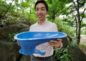 Lixil hopes its cheap SATO toilet can help solve sanitation problems in developing countries.  By Kazuhiro NOGI (AFP)