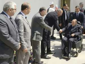 Longtime President Abdelaziz Bouteflika, 81, shows little sign of leaving office despite his ailing health.  By Handout (APS/AFP/File)