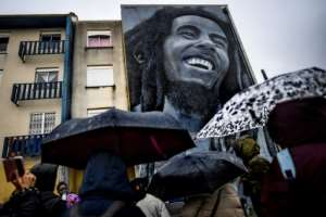Local officials say the area is now 'the biggest open-air art gallery in Europe'.  By PATRICIA DE MELO MOREIRA (AFP)