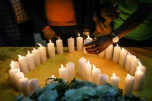 Loss: A memorial service for Kenyan victims of the disaster.  By Michael TEWELDE (AFP)