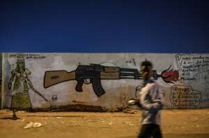 Many murals attempt to show the peaceful nature of the protest movement. By OZAN KOSE (AFP/File)