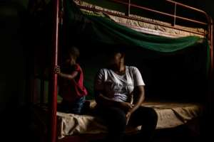 Many Nigerian migrants spend months, even years in Libya, sold as slaves by their smugglers.  By FATI ABUBAKAR (AFP)