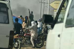 Many demonstrations in N'Djamena and elsewhere were banned by the regime.  By Issouf SANOGO (AFP)