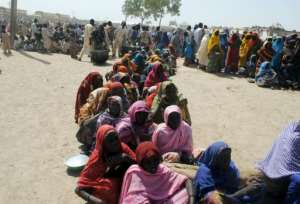 Many residents who returned to Dikwa after fleeing jihadist attacks now live in a camp for the displaced.  By STRINGER (AFP)