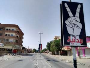 Many streets in Khartoum were almost deserted.  By - (AFP)