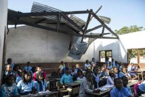 Many schools were damaged in the March cyclone.  By WIKUS DE WET (AFP)