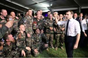 Macron celebrated Christmas with French troops in Ivory Coast.  By Ludovic MARIN (AFP)