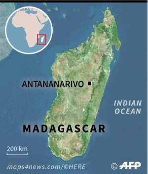 Map of Madagascar locating the Vohibola Forest..  By AFP (AFP)