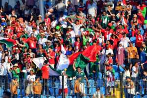 Madagascar supporters celebrate the goal that beat Burundi in an Africa Cup of Nations match this week.  By Giuseppe CACACE (AFP)