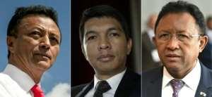 Madagascar's last three presidents are all seeking to return to power: (left to right) Marc Ravalomanana, Andry Rajoelina and Hery Rajaonarimampianina.  By RIJASOLO, THOMAS SAMSON, SIMON MAINA (AFP)