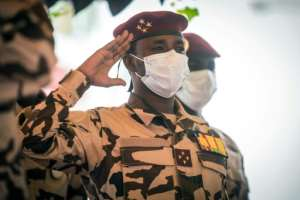 Mahamat Idriss Deby heads the military council.  By Christophe PETIT TESSON (POOL/AFP/File)