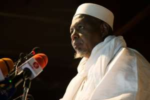 Mahmoud Dicko, an influential imam who is viewed as the figurehead of the June 5 Movement, has pushed for civilian government.  By ANNIE RISEMBERG (AFP/File)