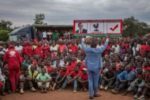 Malawi's election campaigns have become colourful affairs, more so since a ban on cash handouts to voters meant parties put more money into T-shirts, posters and other items for potential supporters.  By AMOS GUMULIRA (AFP)