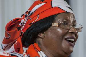 Malawi's former President Joyce Banda at the opening of the People's Party convention Blantyre.  By Amos Gumulira (AFP)