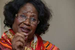 Malawi's former president Joyce Banda speaks during an interview to Agence France-Presse.  By Amos Gumulira (AFP)