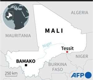 Map of Mali.  By Vincent LEFAI (AFP)