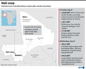 Mali coup: A timeline.  By Janis LATVELS (AFP)