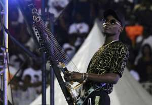 Malian singer Sidiki Diabate was one of the stars who performed at the concert.  By ISSOUF SANOGO (AFP)