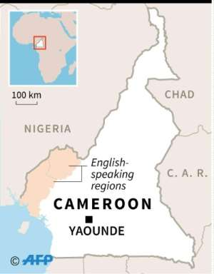 Map of Cameroon.  By Gillian HANDYSIDE (AFP)