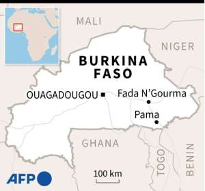 Map of Burkina Faso.  By  (AFP/File)