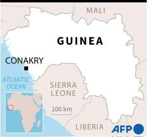 Map of Guinea.  By Gillian HANDYSIDE (AFP)